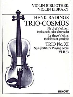 Trio-Cosmos n° 11 - Henk Badings - Partition - laflutedepan.com