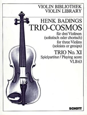 Henk Badings - Trio-Cosmos n ° 11 - Partitura - di-arezzo.es