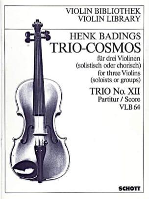 Trio-Cosmos n° 12 - Henk Badings - Partition - laflutedepan.com