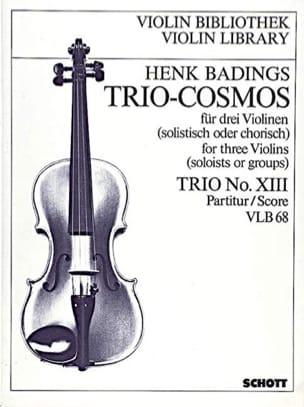 Trio-Cosmos n° 13 - Henk Badings - Partition - laflutedepan.com