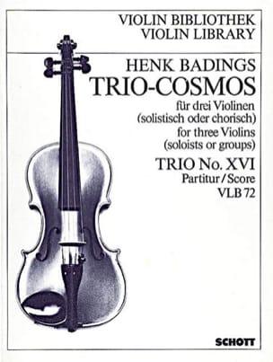 Trio-Cosmos n° 16 - Henk Badings - Partition - laflutedepan.com