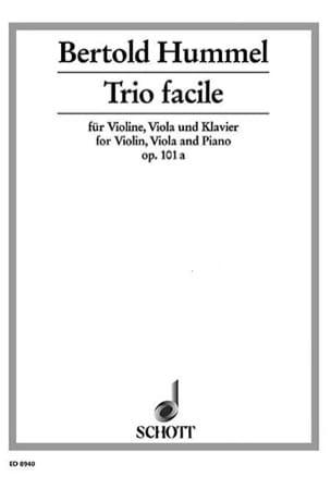 Trio facile op.101a - HUMMEL - Partition - Trios - laflutedepan.com