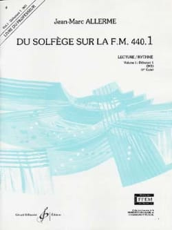 Jean-Marc Allerme - on the FM 440.1 - Reading Rhythm - PROFESSOR - Sheet Music - di-arezzo.co.uk