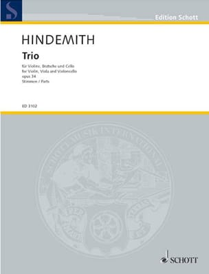 Paul Hindemith - Trio op. 34 - Stimmen - Sheet Music - di-arezzo.co.uk