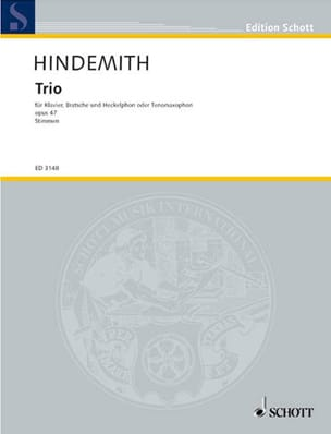 Paul Hindemith - Trio Op. 47 - Sheet Music - di-arezzo.com
