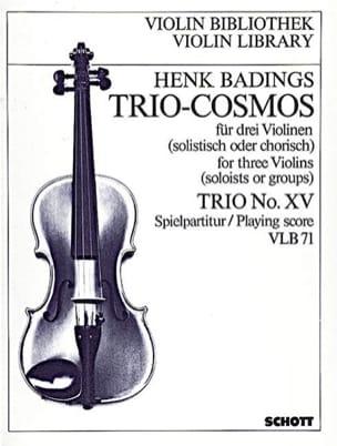 Trio-Cosmos n° 15 - Henk Badings - Partition - laflutedepan.com