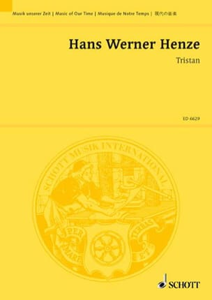 Hans Werner Henze - Tristan 1973 - Partition - di-arezzo.fr