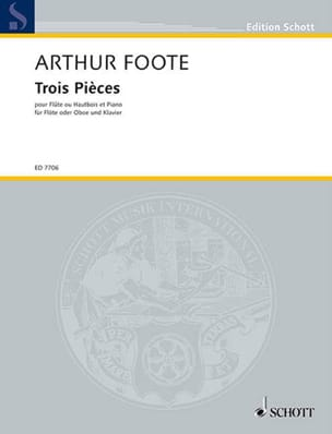 Arthur Foote - 3 Pieces op. 31 - Flute or oboe - Sheet Music - di-arezzo.co.uk