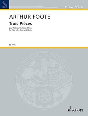 3 Pièces op. 31 – Flûte ou hautbois - Arthur Foote - laflutedepan.com