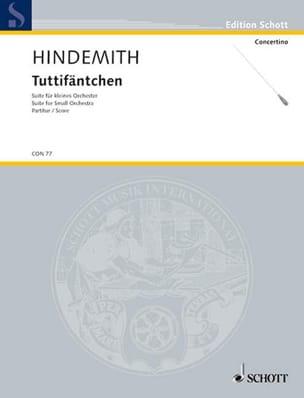 Tuttifäntchen - Paul Hindemith - Partition - laflutedepan.com