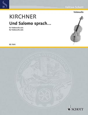 Volker David Kirchner - Und Salomo sprach ... - Sheet Music - di-arezzo.com