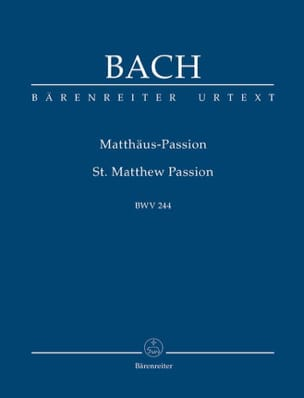 BACH - Saint Matthew Passion - Urtext der Neuen Bach-Ausgabe - Sheet Music - di-arezzo.co.uk