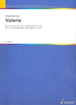 Valérie - Brian Bonsor - Partition - Trios - laflutedepan.com