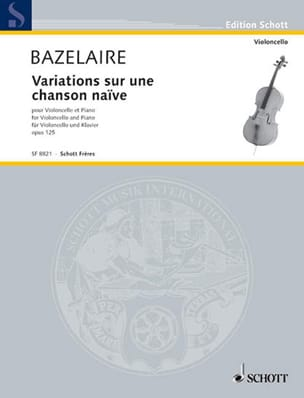 Paul Bazelaire - Variations on a naive song Op. 125 - Sheet Music - di-arezzo.co.uk