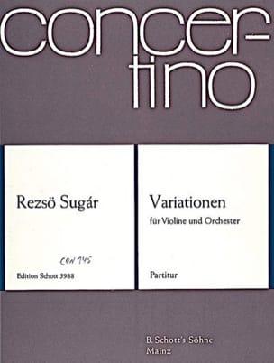 Variationen – Partitur - Rezsö Sugár - Partition - laflutedepan.com