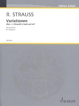 Richard Strauss - Variationen - Streichtrio - Partitur Stimmen - Sheet Music - di-arezzo.com