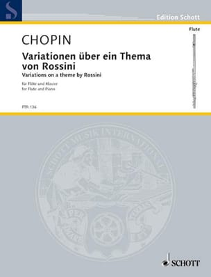 CHOPIN - Variation in über ein thema von Rossini - Sheet Music - di-arezzo.com