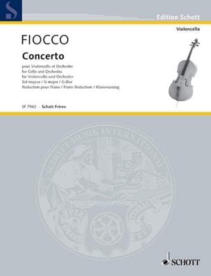 Fiocco Joseph Hector / Bazelaire Paul - Concerto - Cello - Sheet Music - di-arezzo.co.uk