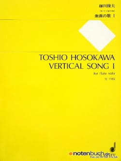 Vertical Song 1 - Flute solo Toshio Hosokawa Partition laflutedepan