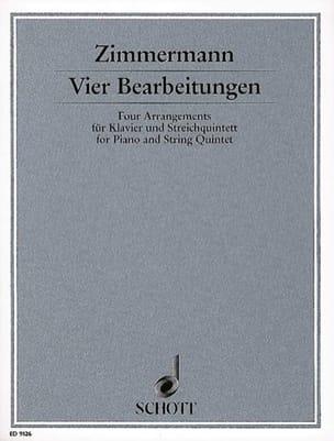 Bernd Alois Zimmermann - Vier Bearbeitungen - Klavier u. Streichquintett - Partition - di-arezzo.fr