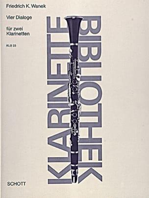 Vier Dialoge - 2 Klarinetten - Friedrich K. Wanek - laflutedepan.com