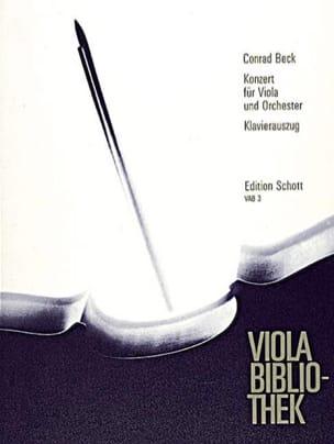 Conrad Beck - Concerto pour Alto - Partition - di-arezzo.fr