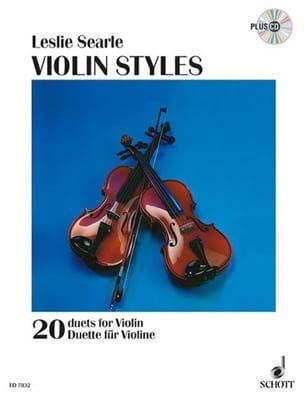 Violin Styles - Leslie Searle - Partition - laflutedepan.com