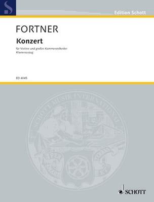 Concerto Violon - Wolfgang Fortner - Partition - laflutedepan.com