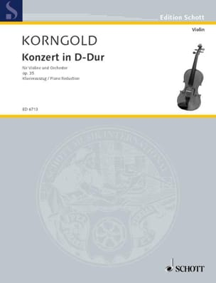 KORNGOLD - Concerto in D Major Opus 35 - Sheet Music - di-arezzo.co.uk