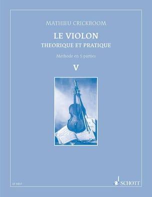 Mathieu Crickboom - Le violon, Volume 5 - Partition - di-arezzo.fr
