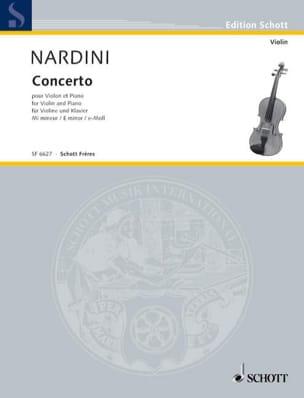 Concerto Violon en mi mineur - Pietro Nardini - laflutedepan.com