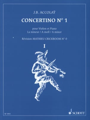 Jean-Baptiste ACCOLAY - Concertino No. 1 in A minor - Sheet Music - di-arezzo.co.uk