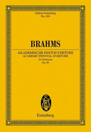 Johannes Brahms - Akademische Festouvertüre - Partition - di-arezzo.fr