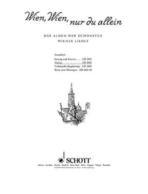 - Wien, Wien, nur allein - Violin - Sheet Music - di-arezzo.co.uk