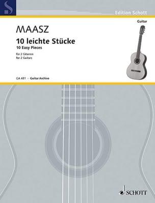 Gerhard Maasz - 10 Leichte Stücke –2 Gitarren - Partition - di-arezzo.fr