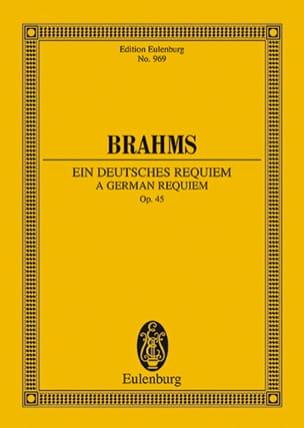 Ein Deutsches Requiem - Conducteur BRAHMS Partition laflutedepan