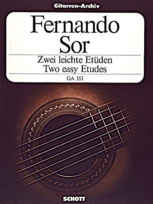 Fernando Sor - Zwei leichte Etüden - Partition - di-arezzo.fr