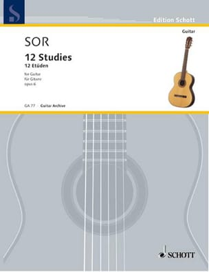 Zwölf Etüden op. 6 SOR Partition Guitare - laflutedepan