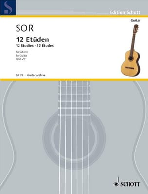 Fernando Sor - Zwölf Etüden op. 29 - Sheet Music - di-arezzo.co.uk
