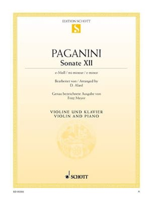 Niccolò Paganini - Sonata No. 12 in E minor - Sheet Music - di-arezzo.co.uk