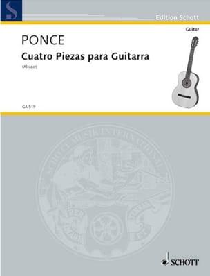 4 Piezas para Guitara - Manuel Maria Ponce - laflutedepan.com