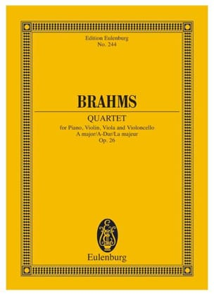 BRAHMS - Klavier-Quartett A-Hard - Partitura - di-arezzo.es