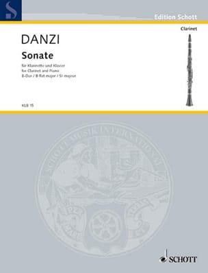 Franz Danzi - Sonate B-Dur – Klarinette Klavier - Partition - di-arezzo.fr