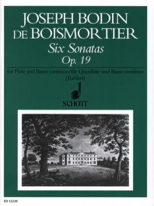 6 Sonatas, op. 19 - Flöte und Bc - BOISMORTIER - laflutedepan.com
