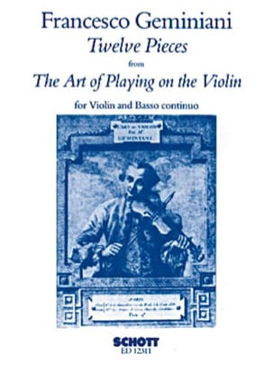 Francesco Saverio Geminiani - 12 Pieces from The Art of Violin Op. 9 - Sheet Music - di-arezzo.com