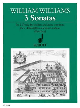 3 Sonatas – 2 Altblockflöten Bc - William Williams - laflutedepan.com