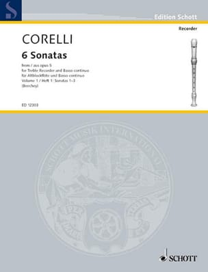 CORELLI - 6 Sonatas Aus Opus 5 - Bd. 1 - Sheet Music - di-arezzo.co.uk