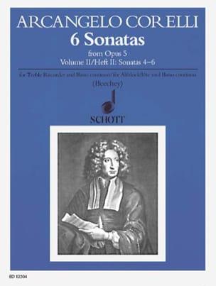 6 Sonatas aus op. 5 - Bd. 2 - Alblockflöte u. Bc CORELLI laflutedepan