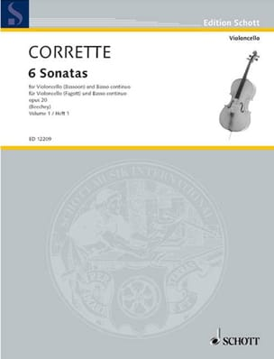 Michel Corrette - 6 Sonatas Op. 20 Volume 1 - Sheet Music - di-arezzo.co.uk