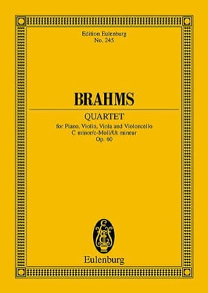BRAHMS - Klavier-Quartett c-moll Op.60 - Sheet Music - di-arezzo.co.uk